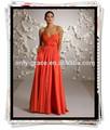 Simples querida decote sem alças plissado tafetá uma longa linha Prom Dress GL0235