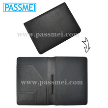 high quality a4 leather conference folder, genuine leather file folder, a4 size leather portfolio with notepad