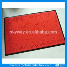Polyester anti-slip floor carpet pvc red door mat rubber door mats factory