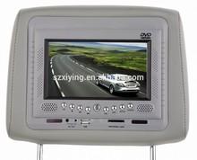 bulk sale car accessories headrest dvd player with IR FM function