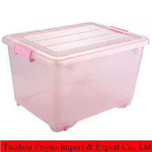 Plastic gift container storage for clothes and sundries