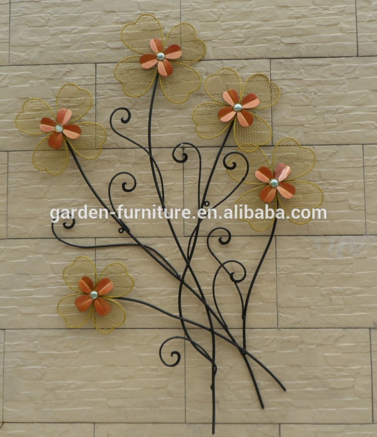 wholesale craft home decor wrought iron sculpture wall art