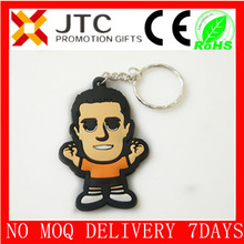 JTC promotion 2014 best sale BV Aduit wholesale flat/2d/3d custom rubber monkey/duck keychain china factory,keychain rubber-0096