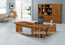 model 3341 big size melamine executive desk metal L shaped office desk