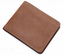 #020 Men Gender and Leather Material Thin Wallets Leather Material and Passport Use leather wallet