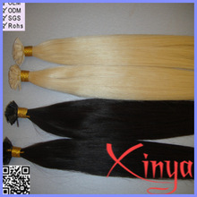 European Hair Pre Bonded Hair Extensions ,Keratin Glue Stick Flat Prebonded hair extension