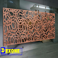 Decorative laser cut metal screen for hotel