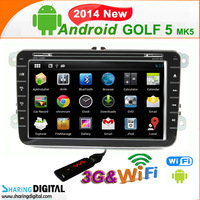 Android dvd radio support Google online Navi can bus car stereo for VW Golf 5(MK5)