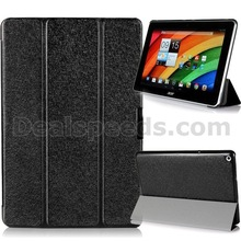 Silk Texture Tri-Fold Stand Leather Smart Case Cover for Acer Iconia A3-A10(with 4 Colors)