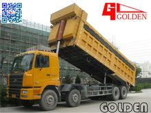 China Golden Tri Axle U Shape Sand Transport Self Lifting Semi Trailer Tipper for Hong Kong