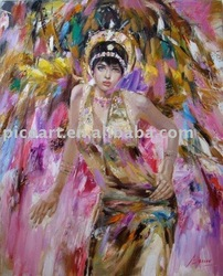 Beautiful indian nude women india sexy girls photo painted in canvas