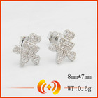 unique shape 925 sterling silver stud earrings for women