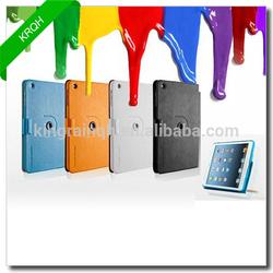 Colorful 360 degress rotating PU leather case for ipad mini