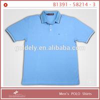 men blue plain racing polo shirt custom design