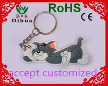 Fashion promotional keychain double sides cartoon custom soft pvc keychain