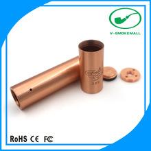 2014 NEW ARRIVAL 18350 / 18650 tubes red copper stingray mechanical mod vaporizer herb dry fortune mod wooden vaporizer pen