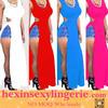 Hot sale prom evening wholesale high double slit dress
