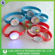 Snowman Printed LED Glow Bangle
