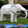 Mi- dino animales realistas de elefante blanco modelo para decoraciones parque temático
