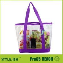 2014 gran PVC de moda bolsas de playa para adolescentes de las muchachas / de las para mujer