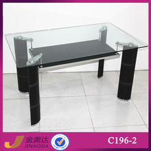 C196-2 home furniture tempered glass and most popular dining table