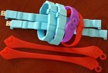 elegant design promotional gift wrist band shaped pen drive wholesale