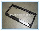 carbon fiber license plate frame blank in 2014