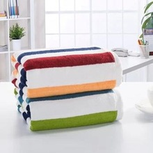 2014 Xinbo fashion new design strips decorative towel coral fleece blanket