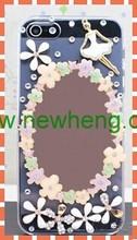 2014 new design diamond rhinestone mirror phone case for iphone 5