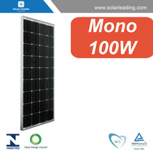MCS approved 100W solar panel price per watt connect to pure sine wave inverter for Columbia market