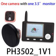 3.5 inch 2.4GHz digital wireless peephole viewer security door hidden camera ip camera sim card gsm