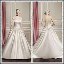 CX739 champagne simple strapless usa wedding dress