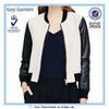hot sale stylish round collar fashion italian leather jackets