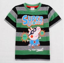 100%cotton soft and thin t-shirts new model t-shirts boys animal printed t-shirts