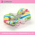 China raya de la cinta& encaje arco cabello con clips de barrett
