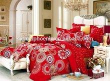 JH210 popular design red color wedding bedding set