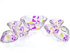 decorative glass fruit bowl colored glass dinnerware sets