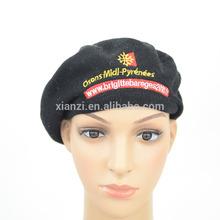 2014 cheap black polyester beret civilian beret