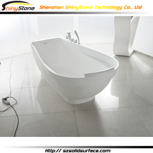 New arrival shower room solid surface/artificial marble corian bathub