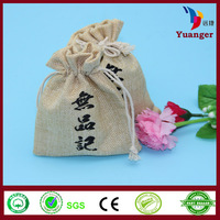 China Supplier Alibaba Wholesale Importer Drawstring Small Jute Bag
