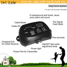 Underground Smart Pet Trainer Rechargeable Dog Fence with Shock Collars