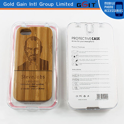 Special Carbonized Bamboo Engraving Case Cover For iPhone 5G