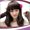 Natural black coloured wigs short styles synthetic