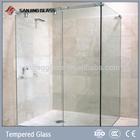 Tempered glass for frameless sliding shower door