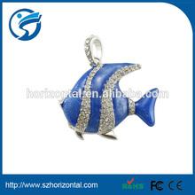 OEM Alibaba china usb stick free sample 3 years warranty Paypal usb fish shape metal jewelry colorful usb stick