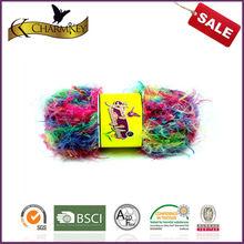 filati fantasia di fiori colorati di nylon loop misto acrilico filato alla moda popolare