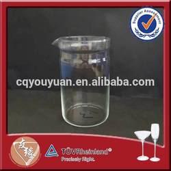 Heat resistant handmade clear glass teapot