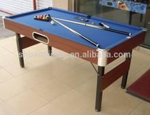 6ft Billiard table with folded leg