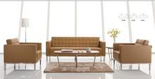 popular leather wood frame fabric sofa
