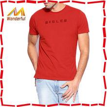 Atacado baratos eua man red criar camiseta personalizada cortar e costurar criar camiseta